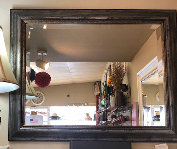 Antique/Distressed Look Wood Frame Mirror