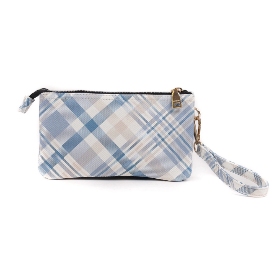Plaid Pattern Wristlet