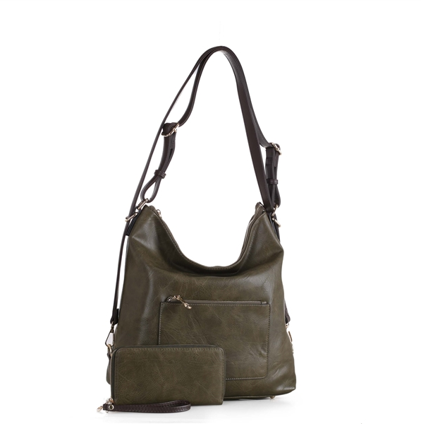 3-in-1 Handbag Set Olive