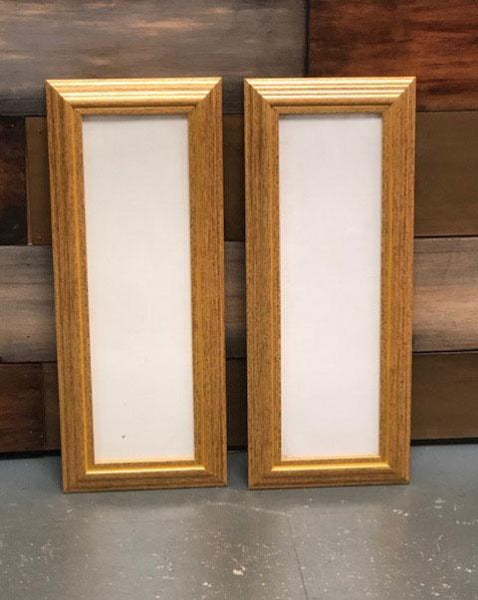 Set of Two Gold Vertical Picture Frames