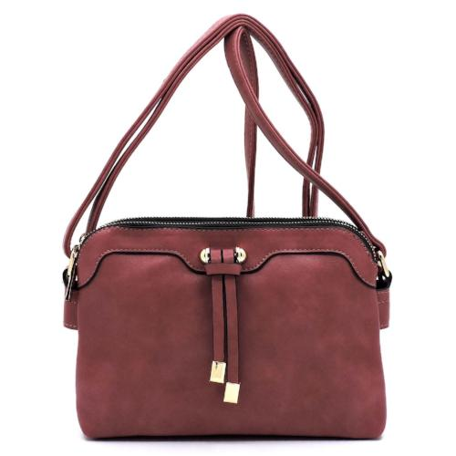 Multi Compartment Crossbody Mauve