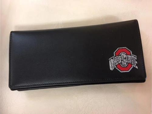Ohio State Wallet Black Leather