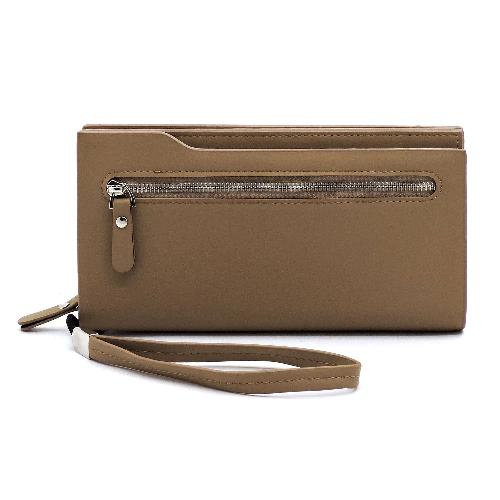 Zip Pocket Wallet/Wristlet Taupe