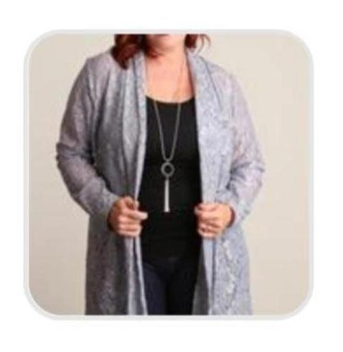 Silver Crochet Cardigan - Plus Size
