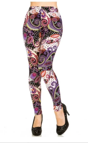 Abstract Paisley Print Leggings