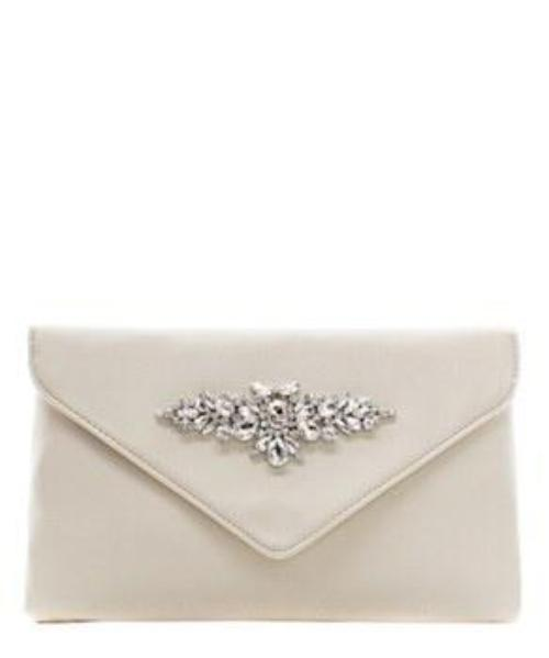 Fashion Faux Leather Rhinestone Envelope Clutch