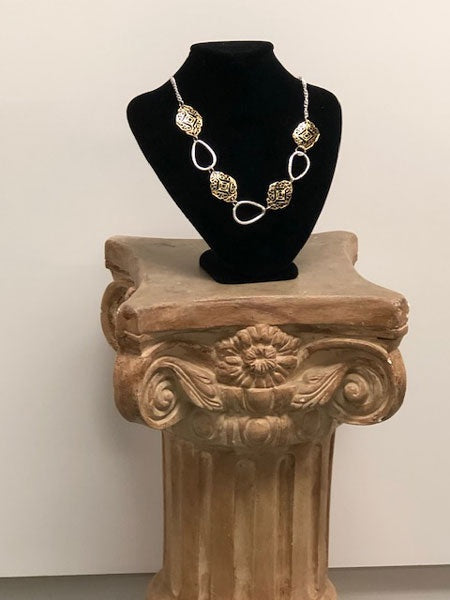 Small Black Velvet Necklace Display/Bust