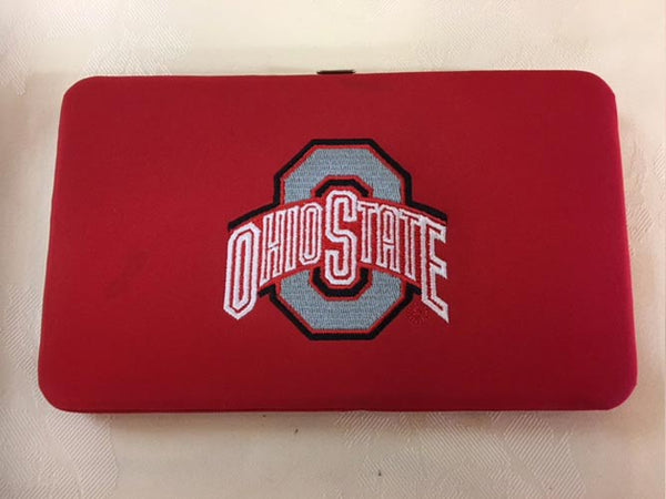 Snap-Close, Hard Case OSU Wallet Red