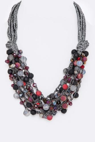 Mix Beads Layer Necklace Multi