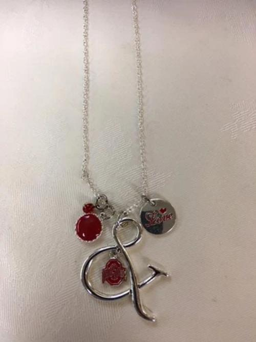 Ohio State Buckeyes Multi-Charm Pride Necklace