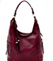 Side Pocket Accent Hobo Bag Wine