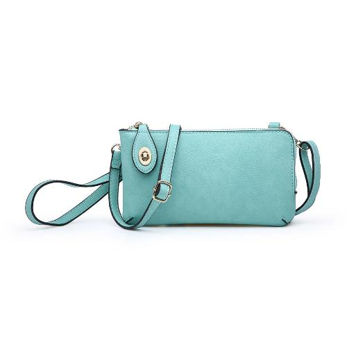 Twist Lock Crossbody/Wristlet Mint
