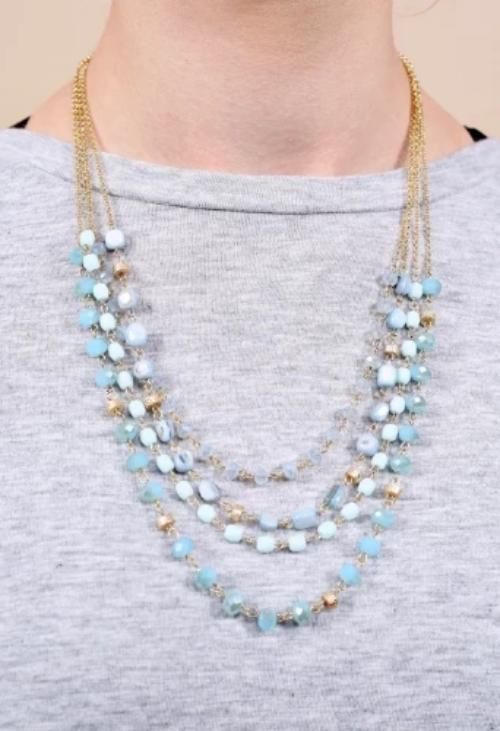 Dublin Multi Layer Glass Bead Necklace