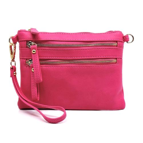 Fashion Clutch/Crossbody Bag Fuchsia