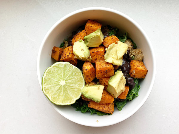 Kinfield Founder, Nichole Powell, Shares Her Favorite Recipe for Sweet Potato Black Bean Quinoa Bowl