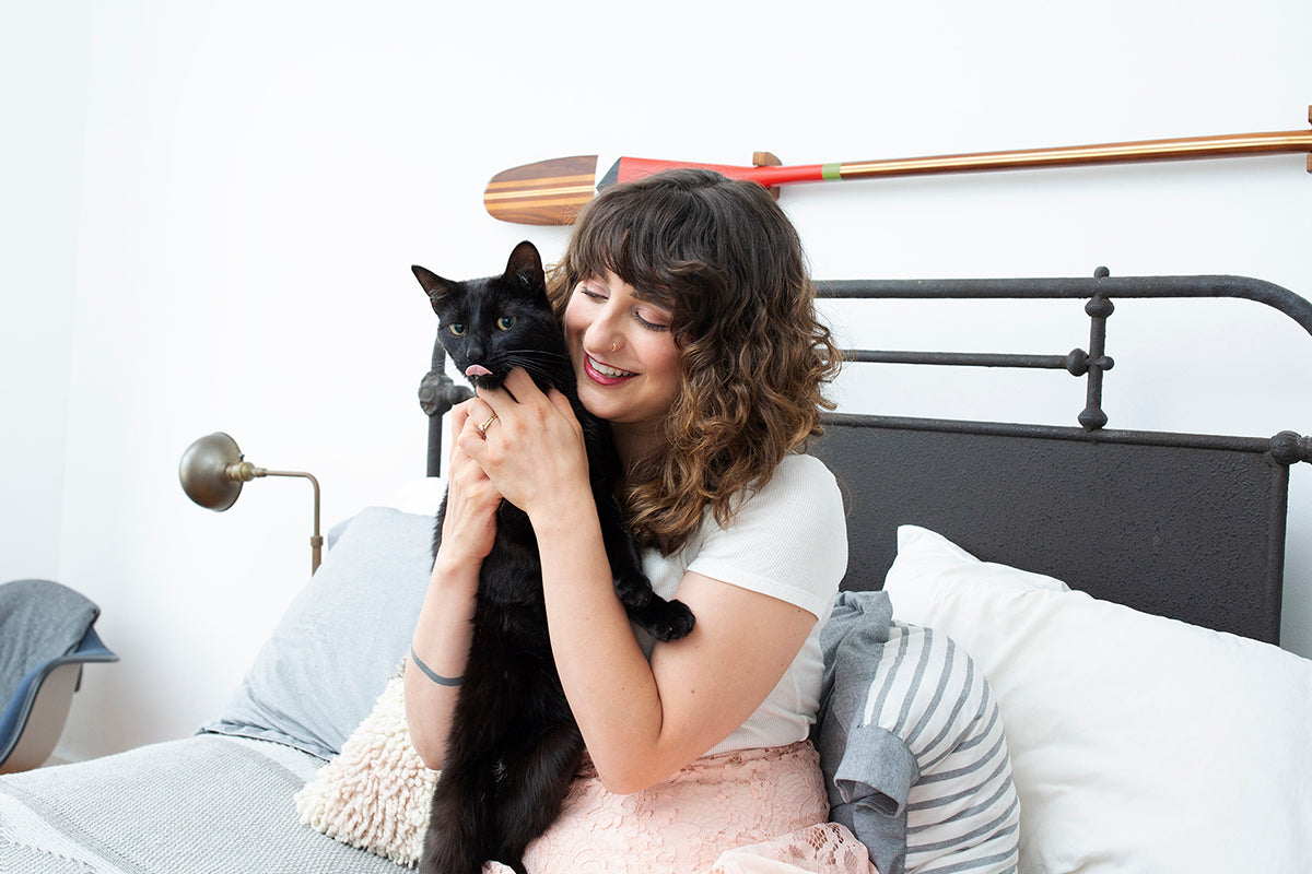 Nina Zilka and Her Black Cat