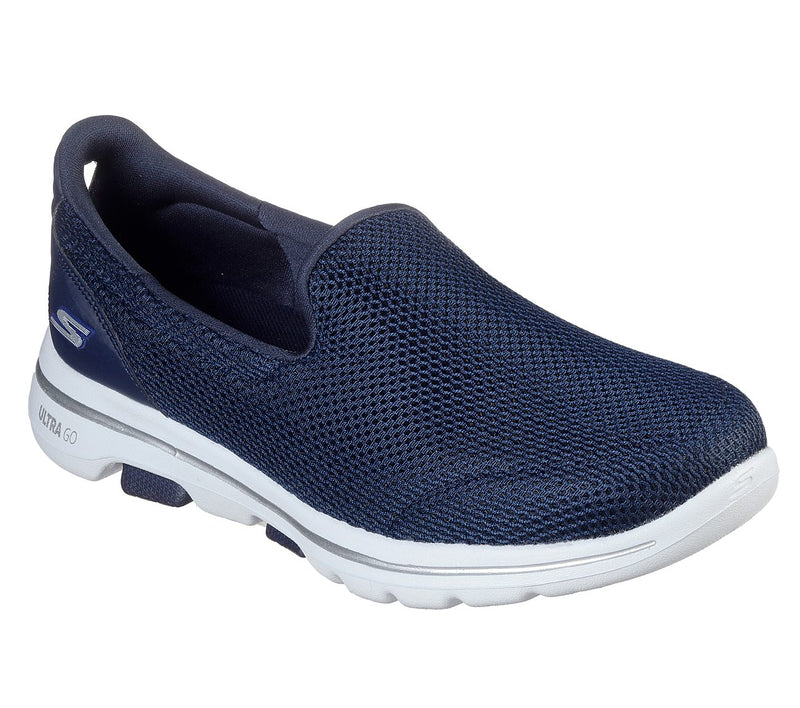 SKECHERS GO WALK 5 - NAVY WHITE