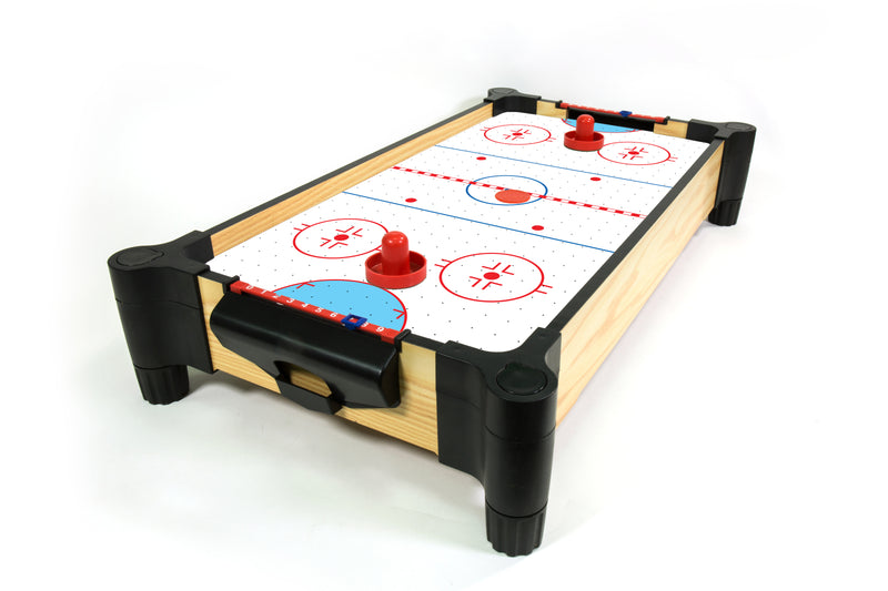 Wood Tabletop Air Hockey with Elevated Surface