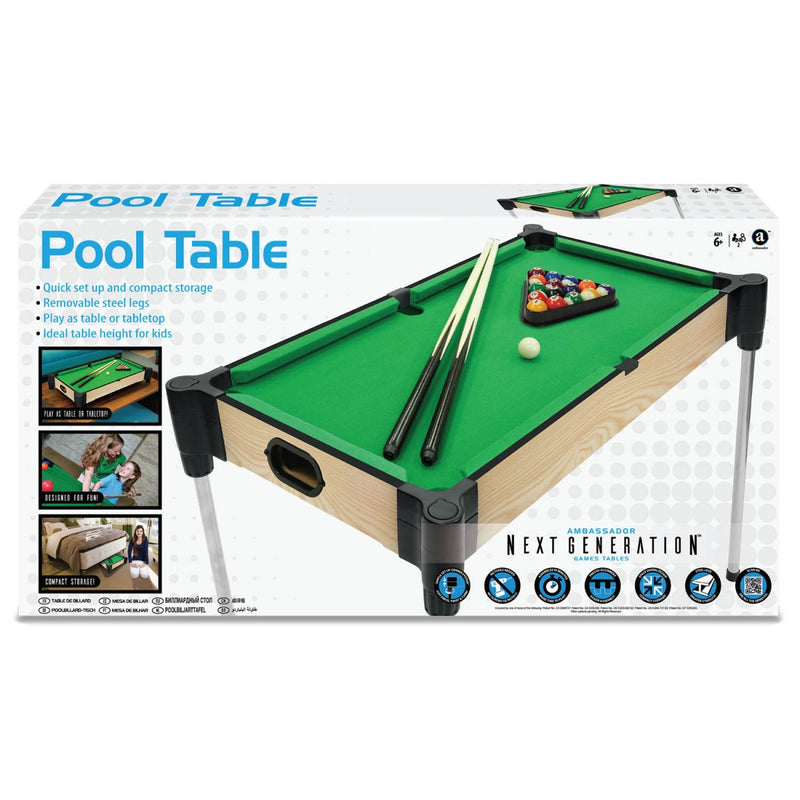 Wood Tabletop Pool with Elevated Surface