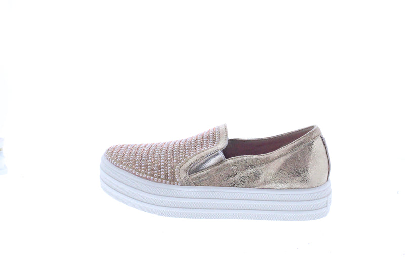 SKECHERS DOUBLE UP-SHINY DANCER - ROSE GOLD