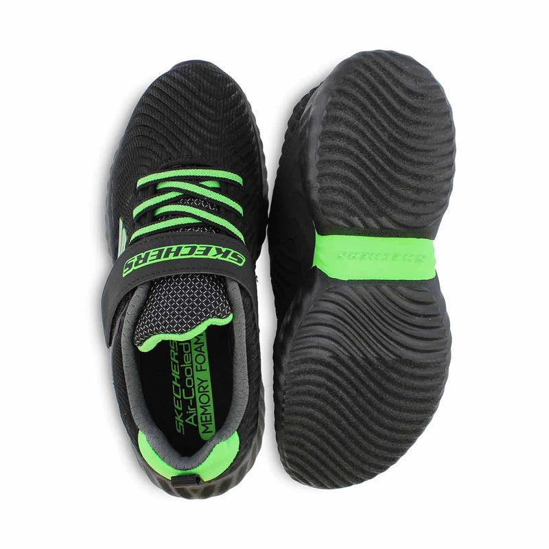 SKECHERS KIDS POWER RIDGE - BLACK LIME