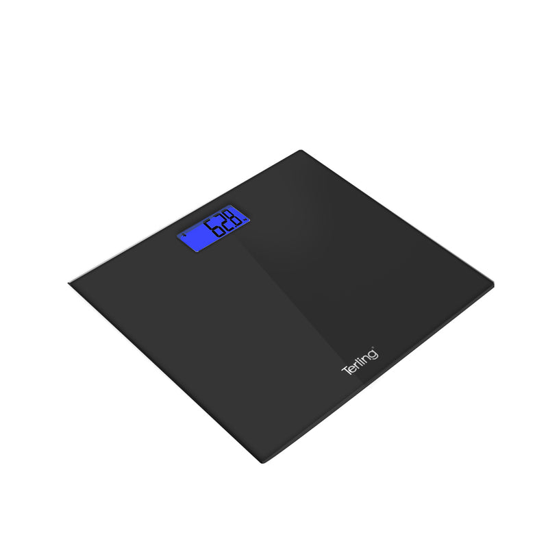 TERLING DIGITAL GLASS WEIGHING SCALE (BLACK)