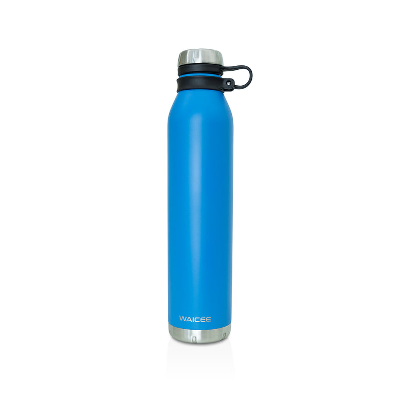 Waicee Water Bottle Stainless Steel Vacuum - Insulated, 1000ml - Royal Blue