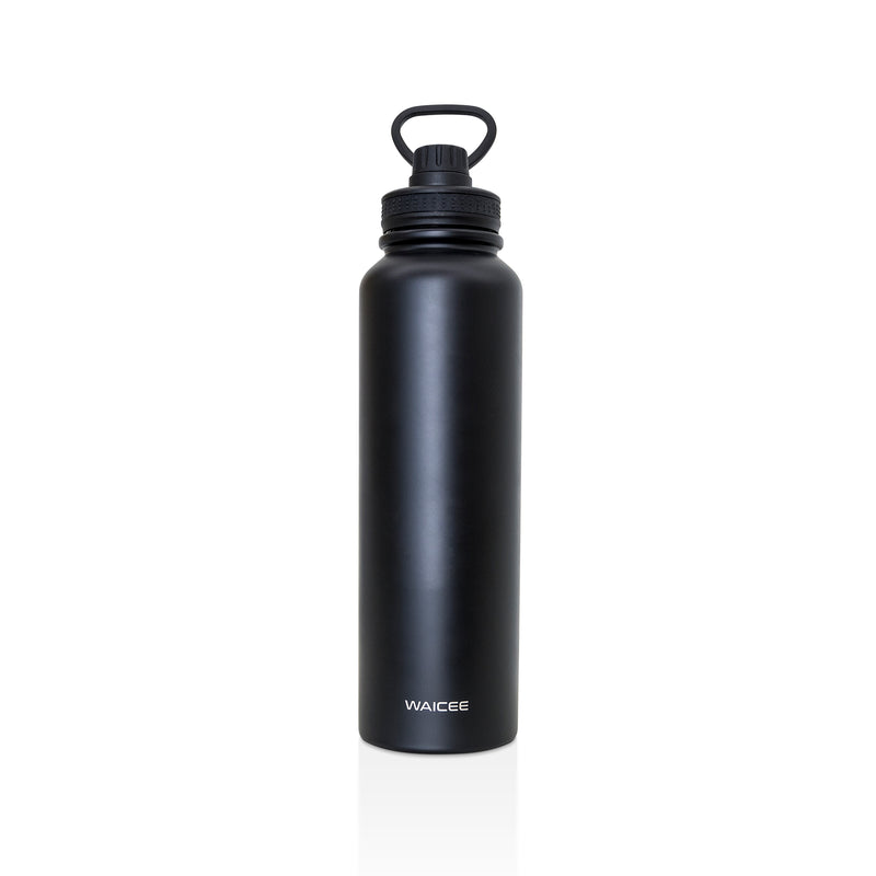 Waicee Water Bottle Stainless Steel Vacuum - Insulated - 1500ml - Matt Black