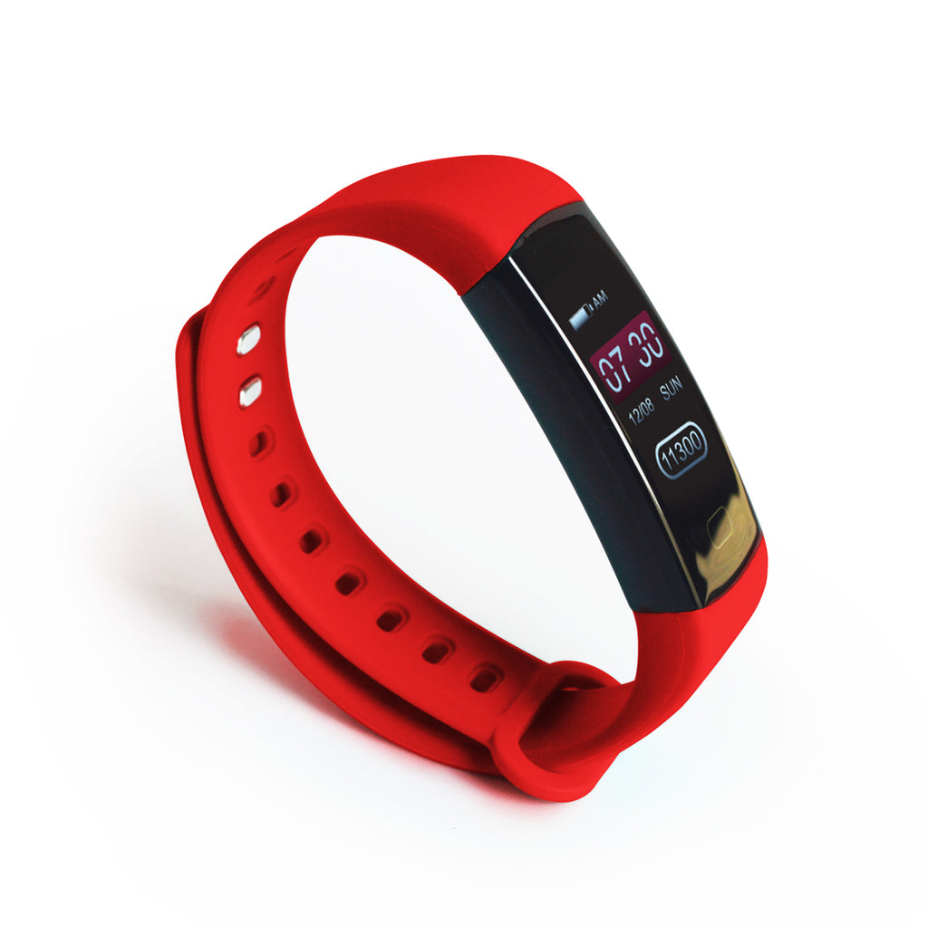 DS Health Band Smart Fitness Tracker - Red