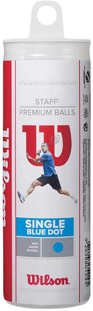 Wilson Staff Squash 3 Ball Tube Blue Dot