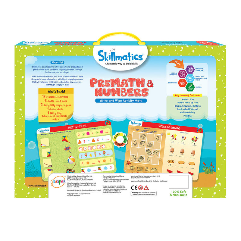Skillmatics: Pre Math and Numbers
