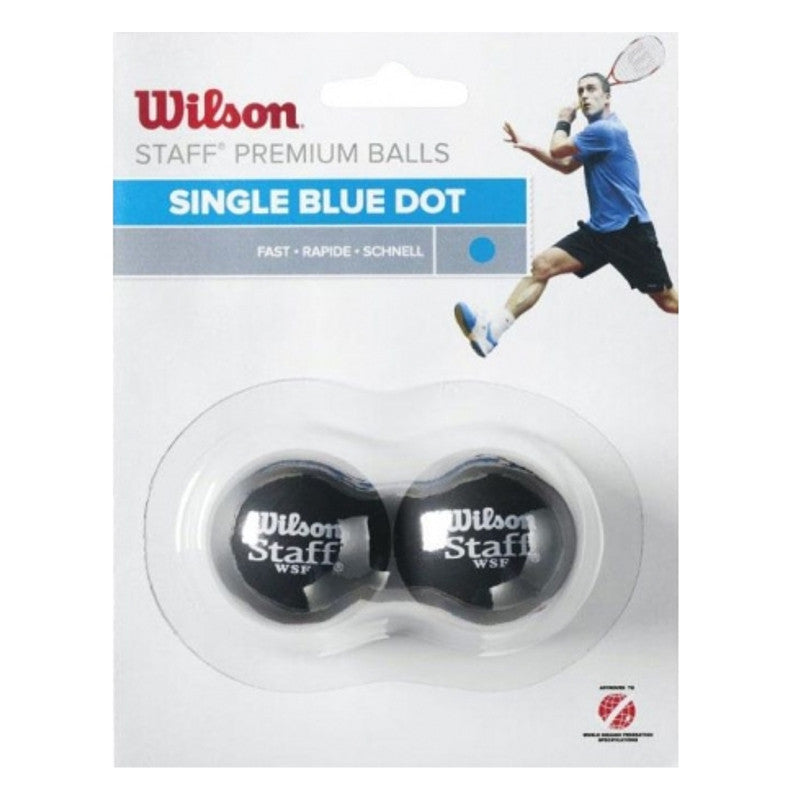 WS Staff Squash Blue Dot - 2 Ball