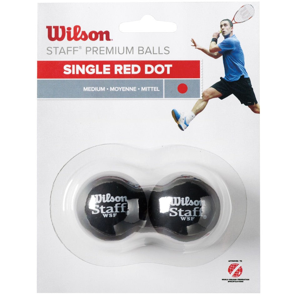 WS Staff Squash Red Dot - 2 Ball