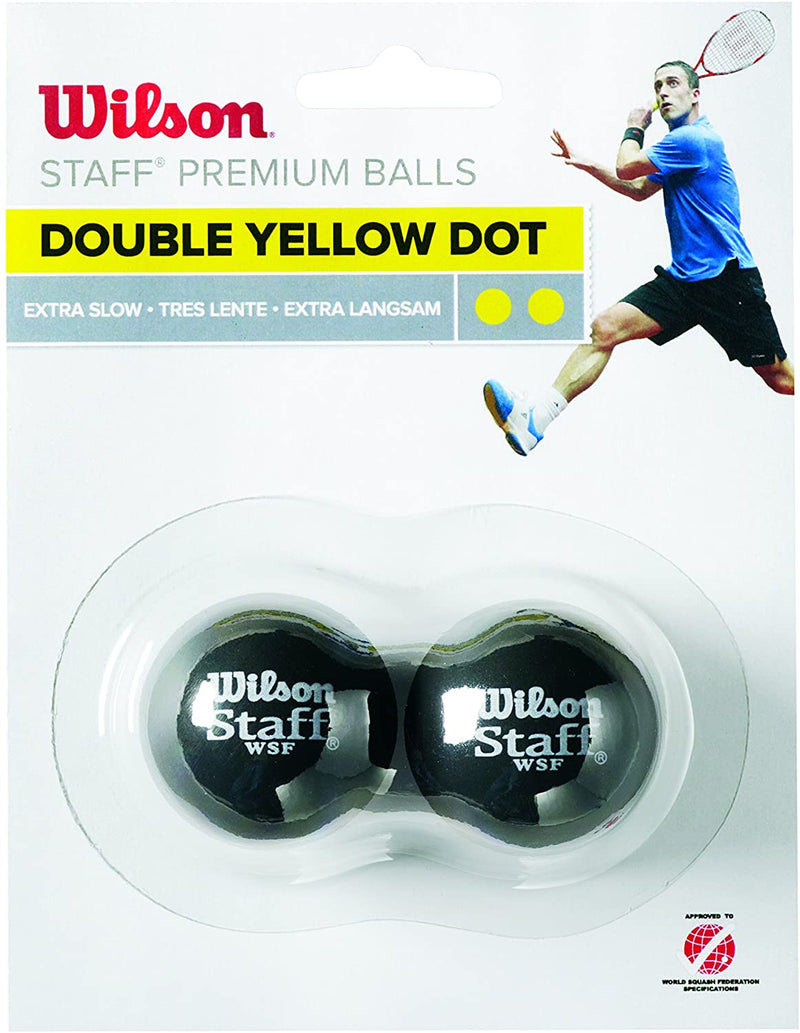 WS Staff Squash Double Yellow Dot - 2 Ball
