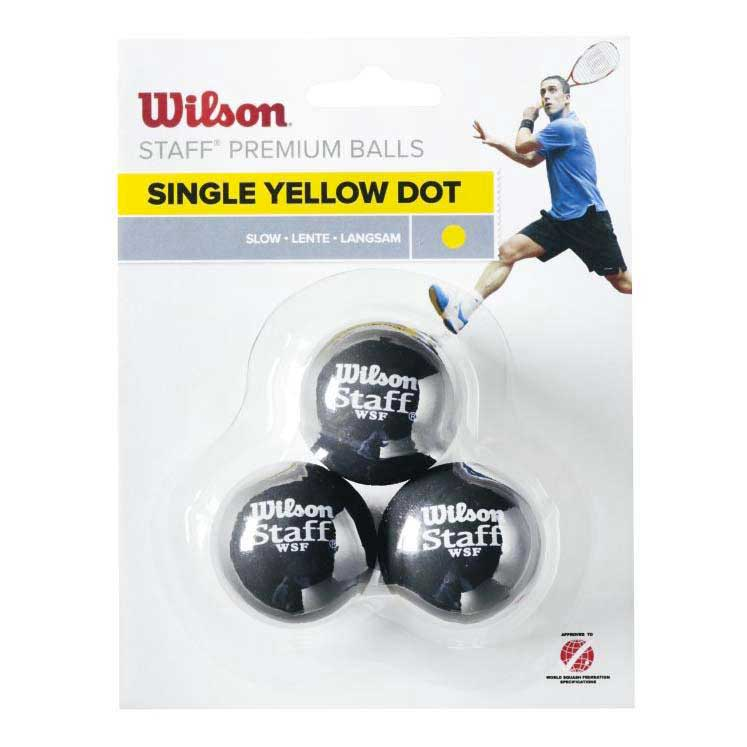 Wilson Staff Squash 3 Ball Yellow Dot