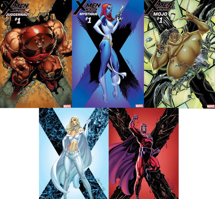 X-MEN BLACK #1 J. SCOTT CAMPBELL SET (5 COMICS) 10/31/2018