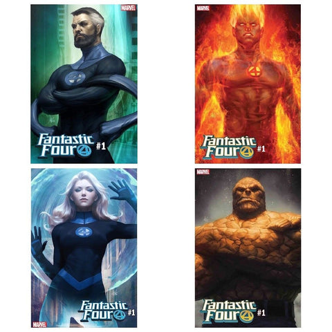 FANTASTIC FOUR #1 ARTGERM VARIANT SET (4 COMICS) 8/8/18