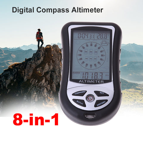 5 in 1 Handheld Digital LCD Compass Altimeter Barometer Thermometer  Outdoor