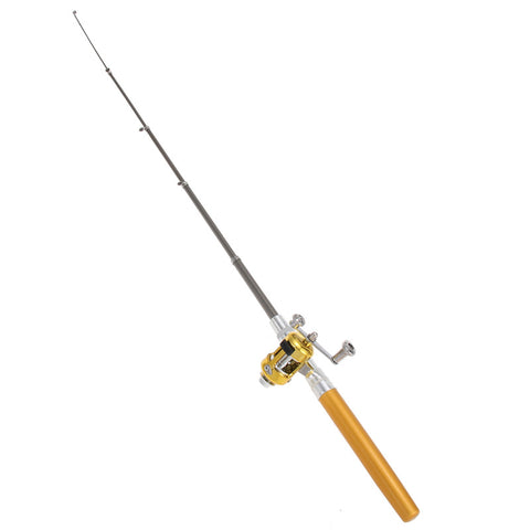 Mini Aluminum Alloy Fishing Rod and Reel