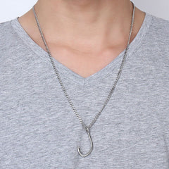 Fishing Hook Pendant Necklace For Fishing Enthusiasts
