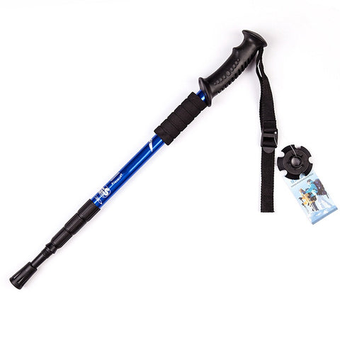Carbon Tipped Grip Telescopic Walking Stick