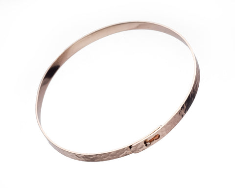 Heritage Thin Rose Gold Bangle