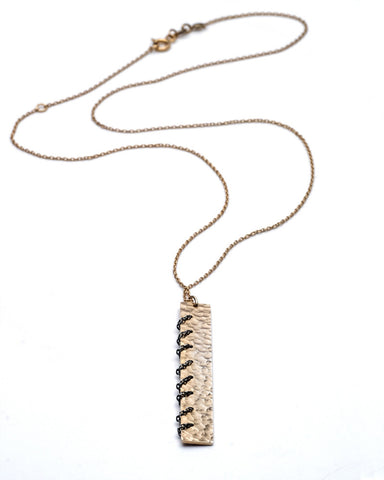 Heritage Rose Gold Chain Stitch Necklace