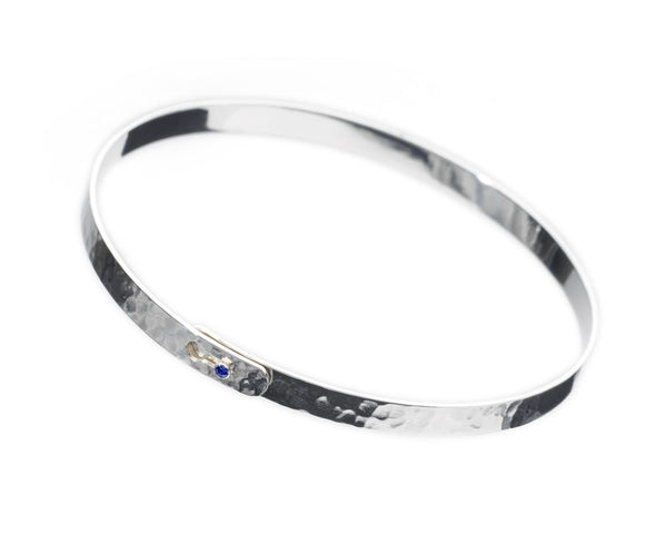 Heritage Thin Silver Bangle