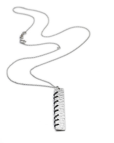 Heritage Silver Chain Stitch Necklace