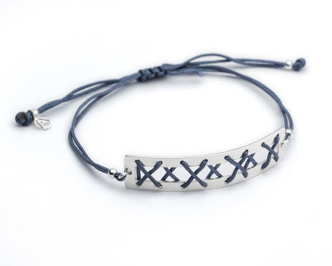 Kisses Silver Bracelet - Denim