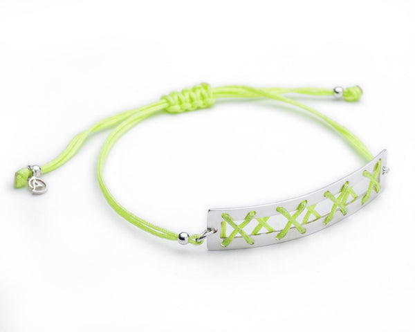 Kisses Silver Bracelet - Green