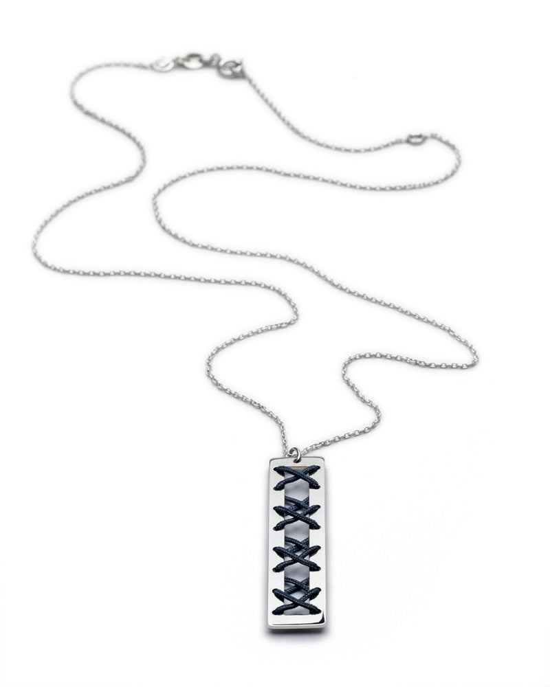 Kisses String Necklace - Denim