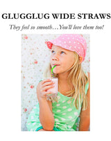 REUSABLE SILICONE STRAWS - SMOOTHIE SIZE