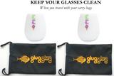 Silicone Drinking Glasses - Set of 2 + Carry Bags (x2)